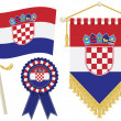 Croatia flags - Stock Vector