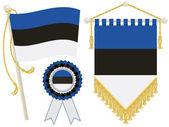 Drapeaux de l'estonie — Vecteur