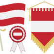 Austria flags — Stock Vector