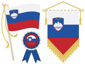 Slovenia flags — Stock Vector