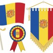 Stock Vector: Andorra flags