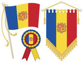 Andorra flags — Stock Vector