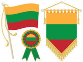 Lithuania flags — Stock Vector