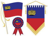 Liechtenstein flags — Stock Vector