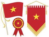 Vietnam flags — Stock Vector
