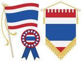 Thailand flags — Stock Vector