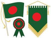 Bangladeş bayrağı — Stok Vektör