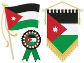 Jordan flags — Stock Vector