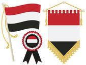 Yemen flags — Stock Vector