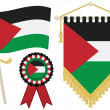 Palestine flags — Stock Vector