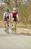 Athletes Riding Cycles — Stock Photo