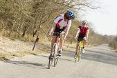 Athletes Riding Cycles — Stock Photo