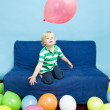Playing with balloons — Stock Photo #11861375