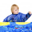 Painter boy — Stock Photo
