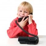 Boy on the phone — Stock Photo