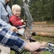 Family on a bike ride — Stock Photo #11861715