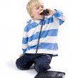 Small boy on the phone — Stock Photo #11861723
