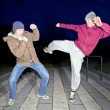 Street fighters — Stockfoto