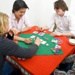 A friendly game of backroom poker — 图库照片