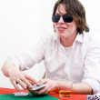 Cunning poker face — Stock Photo #11864359