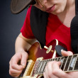 Blues musician — Stock Photo
