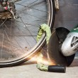 Bike theft — Stock Photo
