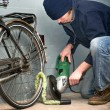 Bicycle theft — Stock Photo