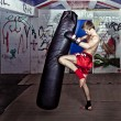 Foto Stock: Knee kick