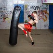 Knee kick — Stock Photo