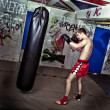 Boxing practise - Stock Photo