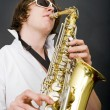 Foto de Stock  : Saxophone player