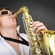 Stock Photo: Playing Saxophone
