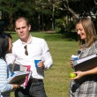 Conversing students — Stock Photo