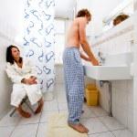 Sharing a bathroom — Stock Photo #11868350