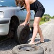 Royalty-Free Stock Photo: Changing a tire