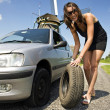 Flat tire — Stock Photo