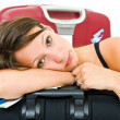 Stock Photo: Tired traveller