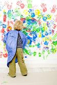 Finger painter — Stock Photo