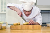 Crazed chef — Stock Photo
