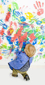 Finger painting — Stock Photo