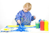 Young painter — Stockfoto