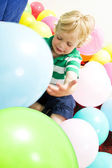 Playing with baloons — Stock Photo