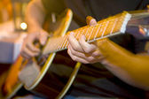 Guitar Fingers — Stock Photo
