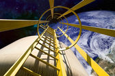 équipement dans l'espace — Photo