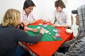 A friendly game of backroom poker — Stock Photo