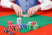 Shuffling cards — Stock Photo
