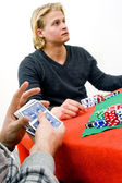 Shuffling Poker Cards — Stock Photo