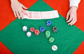 Poker wipe out — Stockfoto