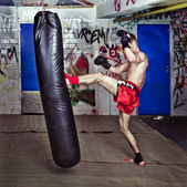 Forward kick — Stock Photo