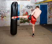 Full force kick — Stock Photo